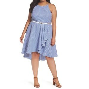 ➕ Eliza J high low fit & flare plus dress 18W